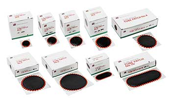 Rema Tip Top Round Tyre Inner Tube Puncture Repair Patches Red Edge bike car